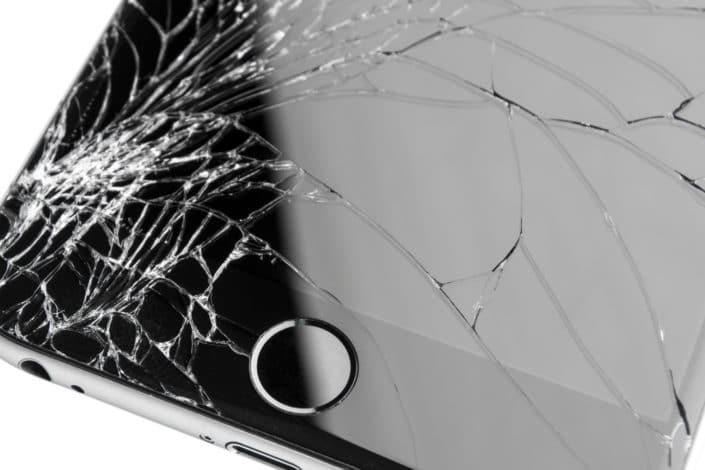 ødelagt iphone skærm